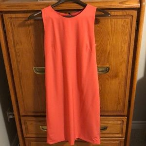 J.Crew coral tunic dress